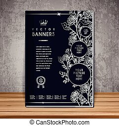 elegant book cover template design