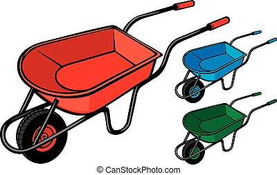 garden metal wheelbarrow