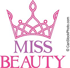miss beauty symbol (miss beauty sign with diamond tiara)