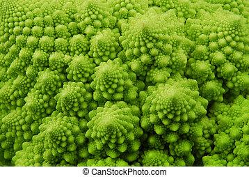 romanesco, bróculi, Plano de fondo