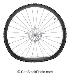 Broken bicycle wheel - Vector broken bicycle wheel on white...