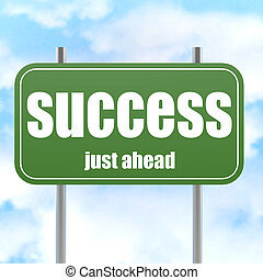 Success Green Road Sign image with hi-res rendered artwork...