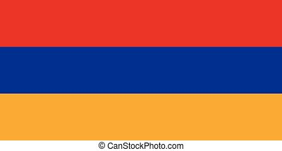 Armenia Flag - The flag of Armenia in red blue and yellow