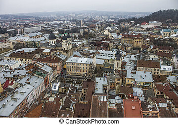 Panorama on the center of city Lviv