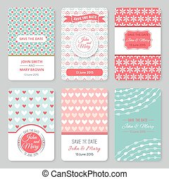 Set of perfect wedding templates with pattern theme Ideal...