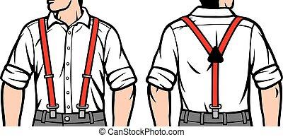 man with suspenders man wearing suspenders