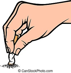 hand extinguishing a cigarette vector illustrationeps - hand...