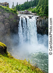 Snoqualmie Waterfall - The Beautiful Snoqualmie Waterfall in...
