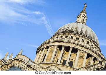 St. Pauls Cathedral in London - The dome of St. Pauls...