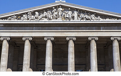 British Museum - The magnificent exterior of the British...