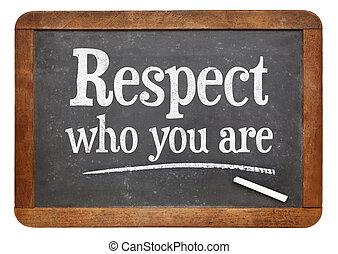 respeto, Quién, usted, ser, en, pizarra,