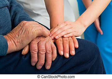 Supporting Hands - Supporting hands for the elderly...