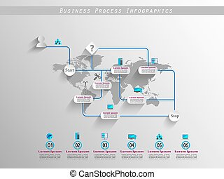 Business process infographics