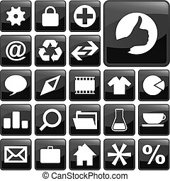 Icon collection. Usable for web design.