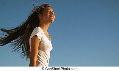 Girl Enjoying Nature