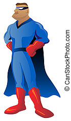 Super Hero Illustration - Super hero illustration with...