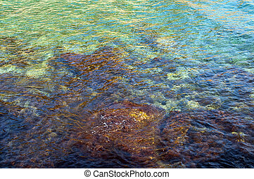 Sea and coast in Bandol, France - Sea with rocks and colors...