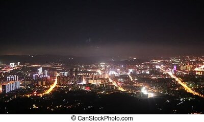 Night city view from the observation deck