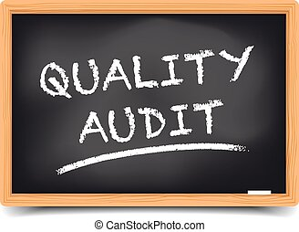 Quality Audit - detailed illustration of a blackboard with...