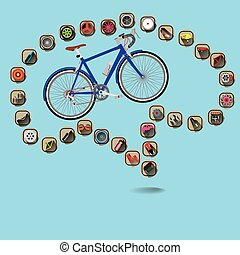 bicycle brain - Icon Equipment bike surrounding a bicycle on...