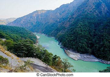 himalya mountains & ganga river in rishikesh - Himalya...