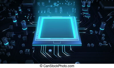 CPU Technology - An advanced processor being integrated into...