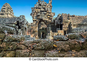 Angkor Wat, Khmer temple complex, Asia Siem Reap, Cambodia -...