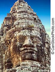 statue Angkor Wat, Khmer temple complex, Asia. Siem Reap,...