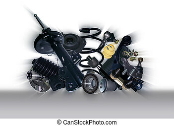 Suspension and steering parts - Many new Suspension and...