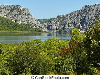 Krka National Park - Krka river in Krka National Park...