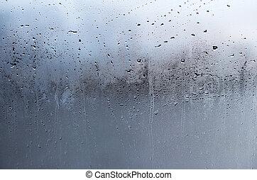小滴, 抽象的, グランジ, 雨, 背景