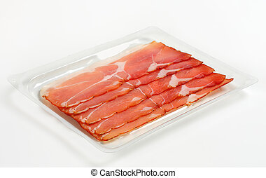 Black forest ham - Thin slices of dry-cured smoked ham...