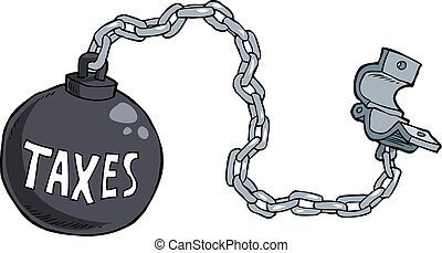 Tax shackles on white background vector illustration