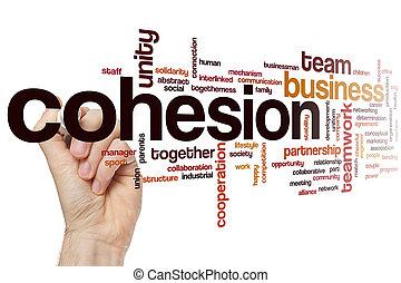 cohesión, palabra, nube,