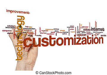 Customization word cloud concept