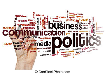 Politics word cloud - Politics concept word cloud background