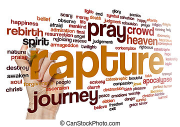 Rapture word cloud - Rapture concept word cloud background