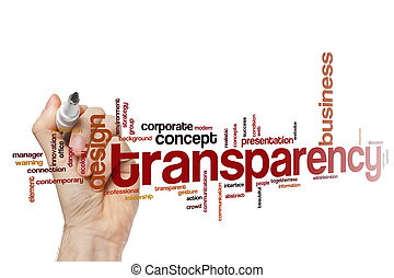 Transparency word cloud - Transparency concept word cloud...