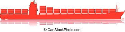 Vessel - Container cargo vessel.