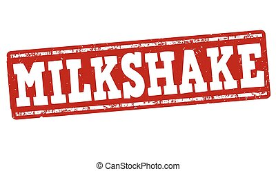 Milkshake stamp - Milkshake grunge rubber stamp on white...