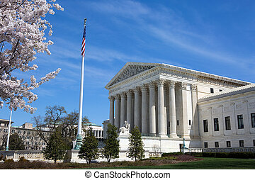 United States Supreme Court building and grounds with US...