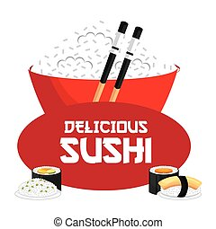 japanese food design, vector illustration eps10 graphic