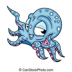 Cheerful Octopus Character