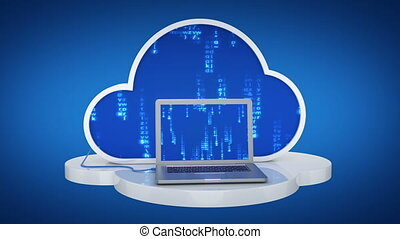 Cloud computing, laptop