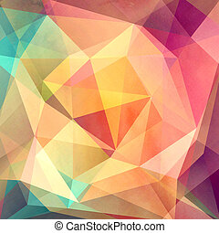 colorful background with polygons - bright watercolor...