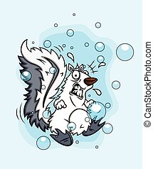 Fearful Squirrel Character Vector Illustration