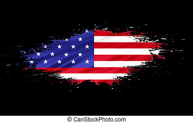America (USA) - splashes with Flag abstract background