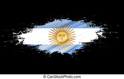 Argentina - splashes with Flag abstract background
