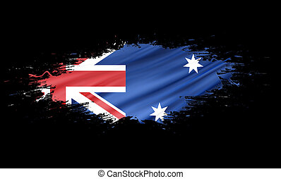 Australia - splashes with Flag abstract background