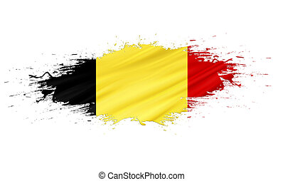 Belgium - splashes with Flag abstract background